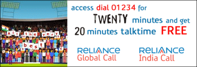 twenty20-dial 01234-reliance india call